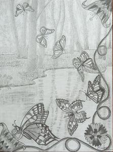 La danse des papillons monarques .