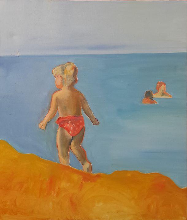 On the beach - Ewa Witkowska