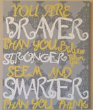 16x20 Winnie the pooh quote