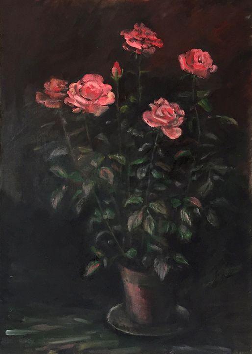 Roses in black - Classic Art for Modern Home