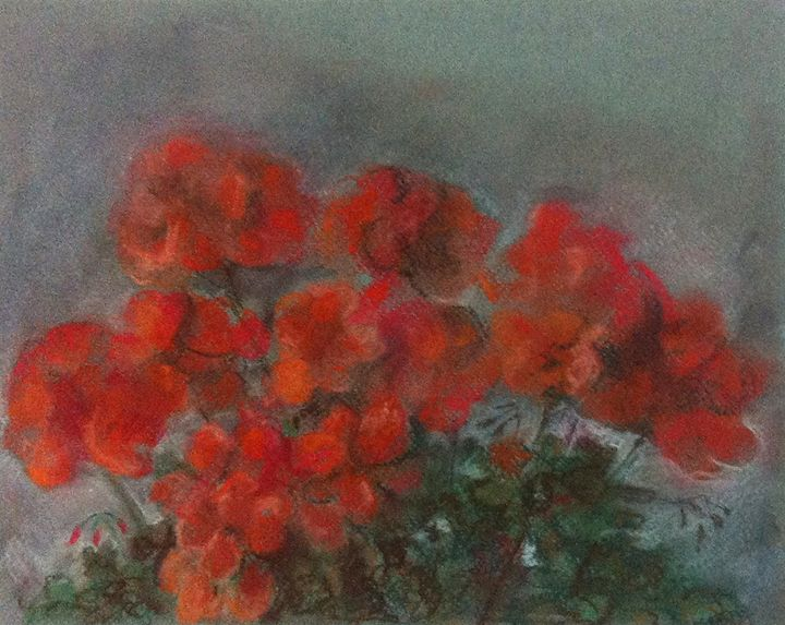 Red Flowers - Classic Art for Modern Home