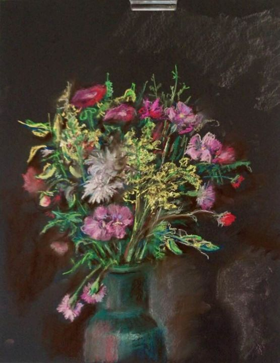 The Flowers on Black - Classic Art for Modern Home