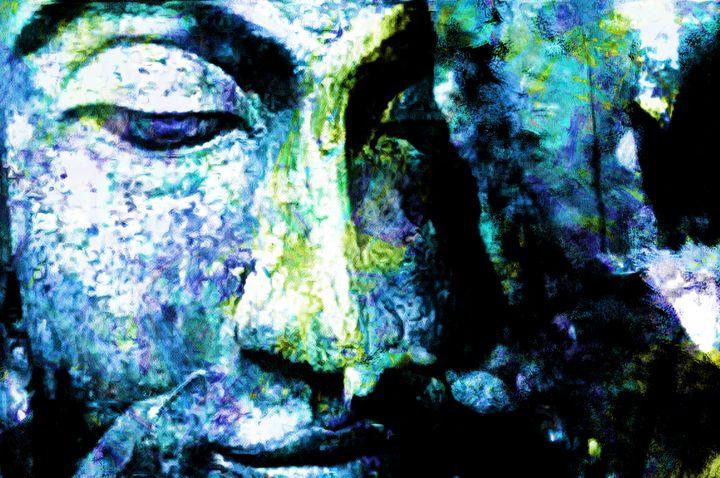 Blue bouddha 1 - Carol-Ann Taillefer