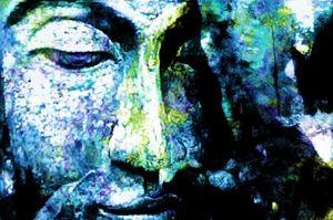 Blue bouddha 1