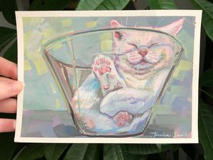 Cats are Liquid #1 Print