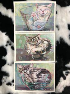 """""""Cats are Liquid"""" Set of 3 Prints"""
