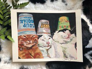 Soup cats print