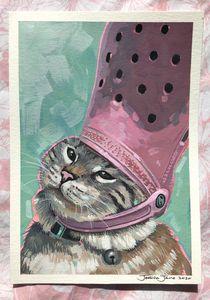Croc Cat Print