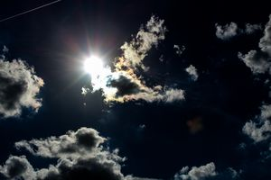 Peeking Sun (dark) - Luis Falcon Gallery