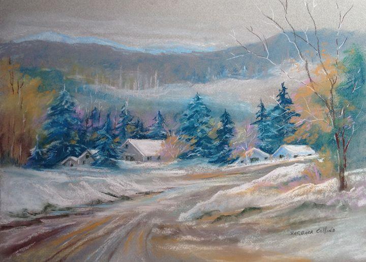 Snowy Road - Rainhaven Studio of Fine Art