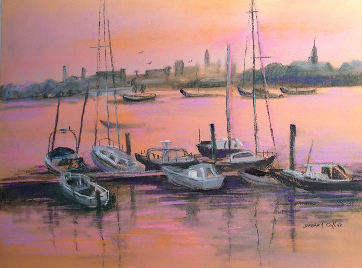 Sunset Harbor - Rainhaven Studio of Fine Art