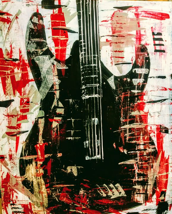 Abstract guitar deep red - Joe Snyder
