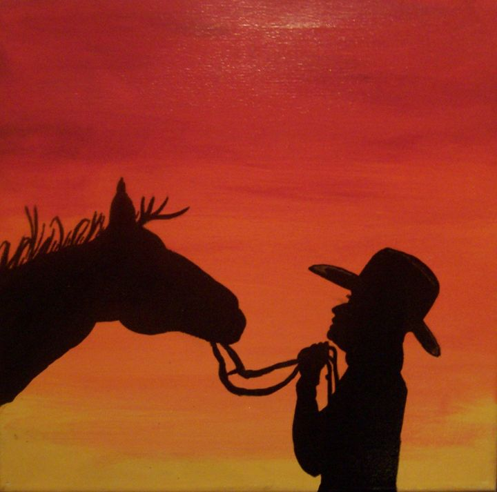 Sunset cowgirl - Joe Snyder