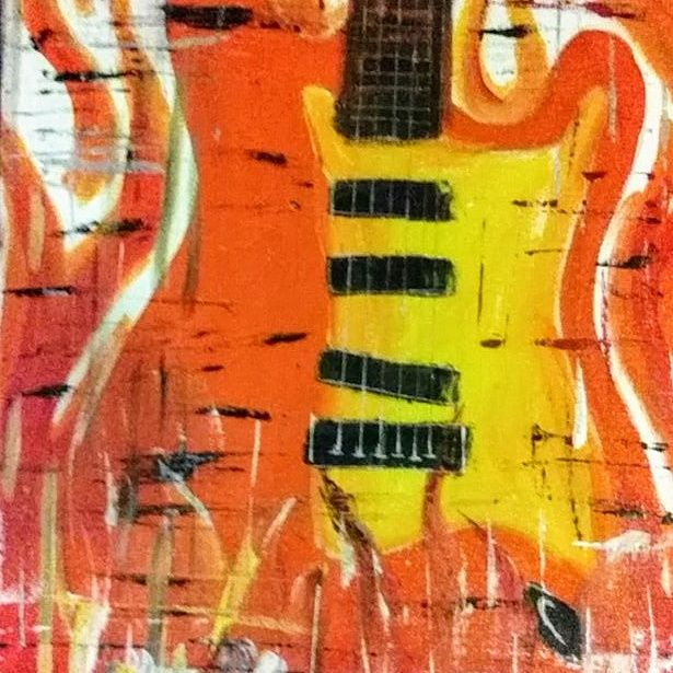 Abstract Guitar-fire orange - Joe Snyder