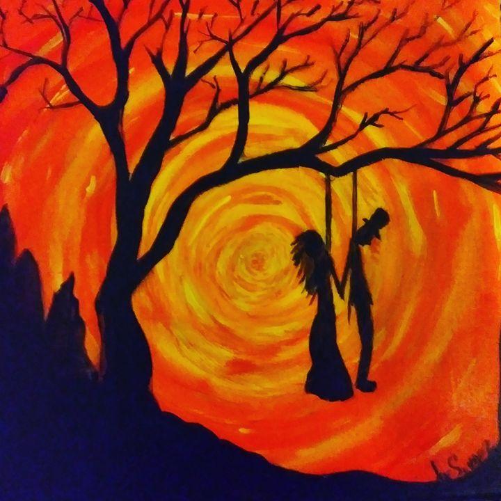 Orange Spiral Together Forever - Joe Snyder