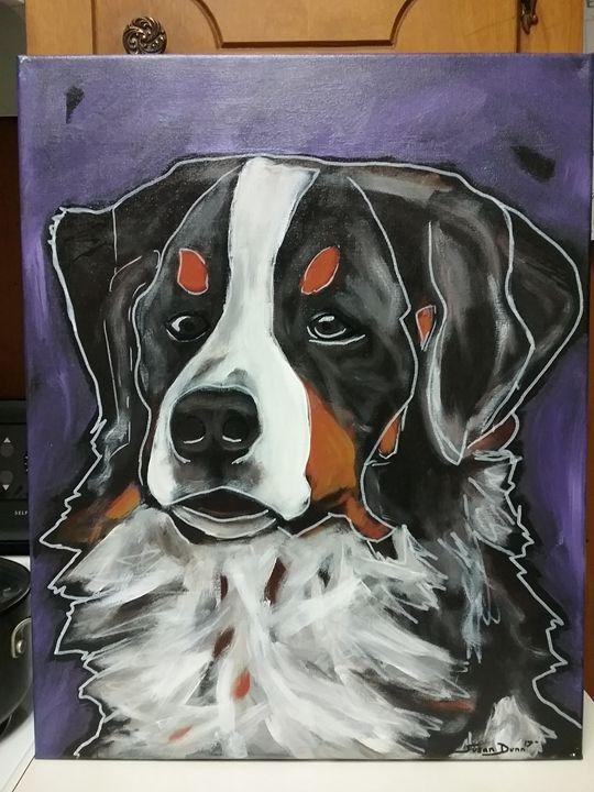 Bernese Mountain Dog Painting - Susan Dunn