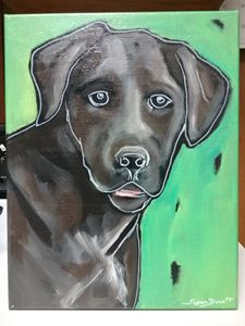 Labrador Retriever Dog Painting