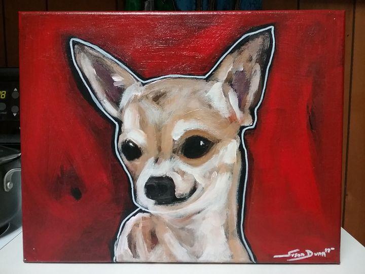 Chihuahua Dog Painting acrylic - Susan Dunn - Paintings & Prints