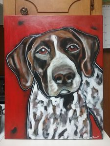Original Pointer Dog Painting - Susan Dunn