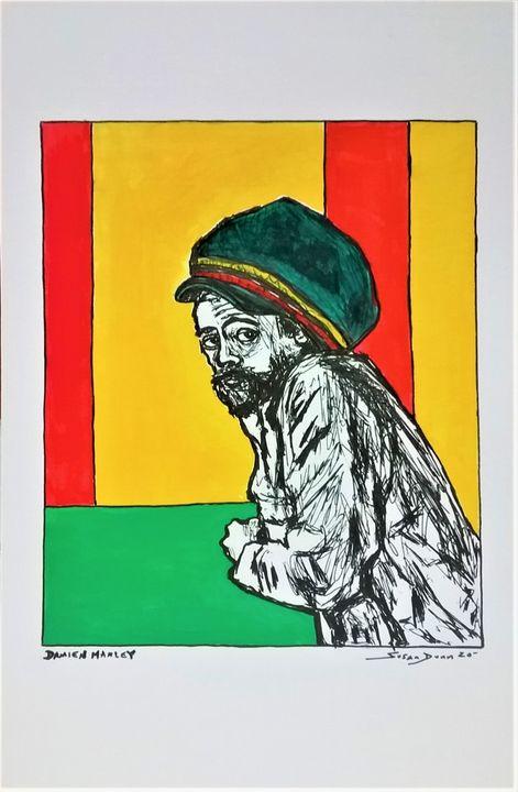 Damian Marley Fine Art Print reggae - Susan Dunn