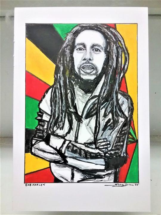 Bob Marley Fine Art Print Reggae - Susan Dunn
