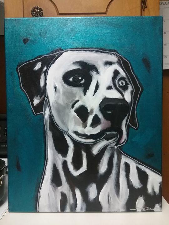 Abstract Dalmatian Acrylic Painting - Susan Dunn