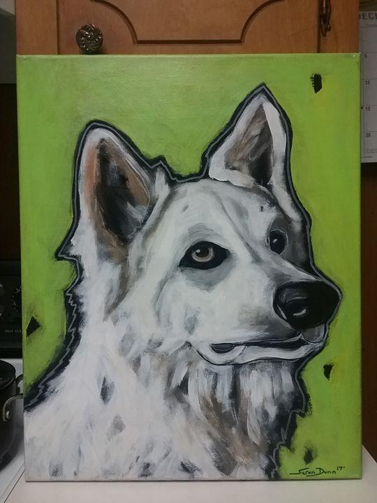 Berger Blanc Suisse Dog painting - Susan Dunn