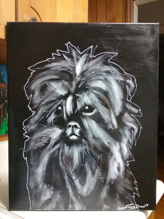 Affenpinscher Dog Painting - Susan Dunn