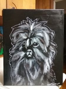 Affenpinscher Dog Painting