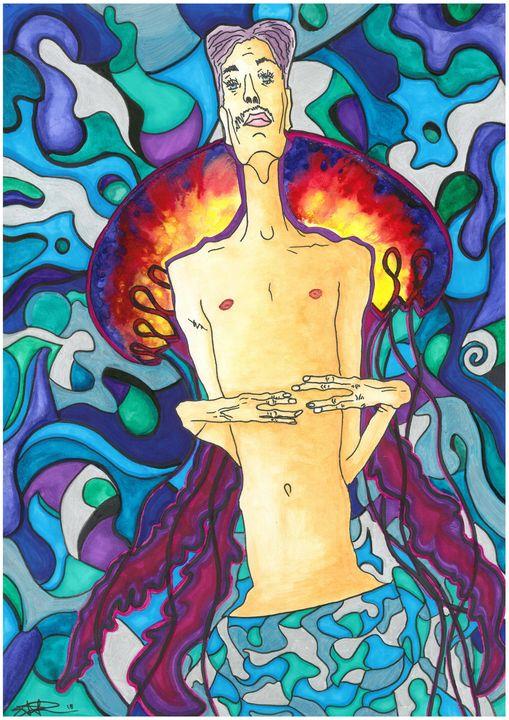 Egon Schiele in the sea - StegoWorldArt