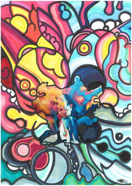 Psychedelic child energy - StegoWorldArt