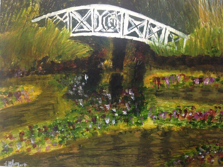 Bridge & Pond - Florence Zhou 's Fine Art