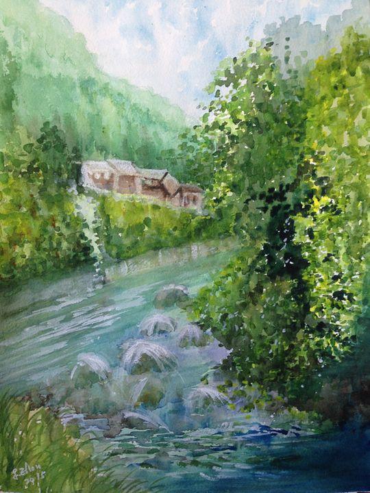 Creek - Florence Zhou 's Fine Art