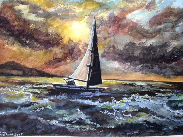 Upcoming Storm - Florence Zhou 's Fine Art
