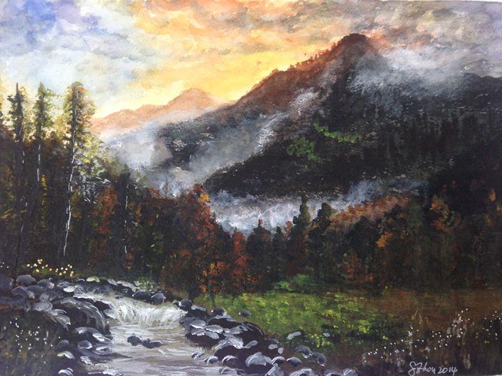 Autumn Mountains - Florence Zhou 's Fine Art