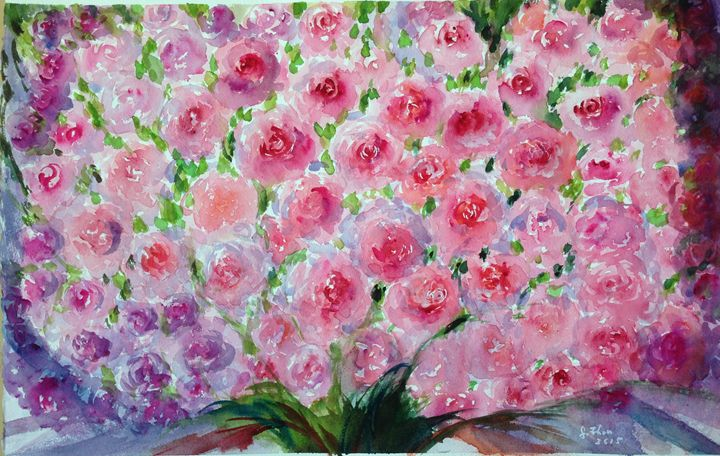 999 Roses of Love - Florence Zhou 's Fine Art