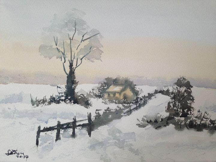 Silent Snow - Florence Zhou 's Fine Art