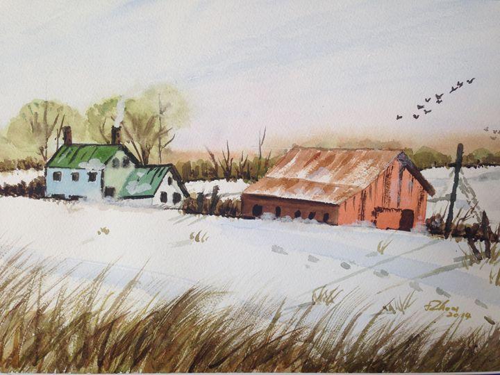 Silent Snow (2) - Florence Zhou 's Fine Art