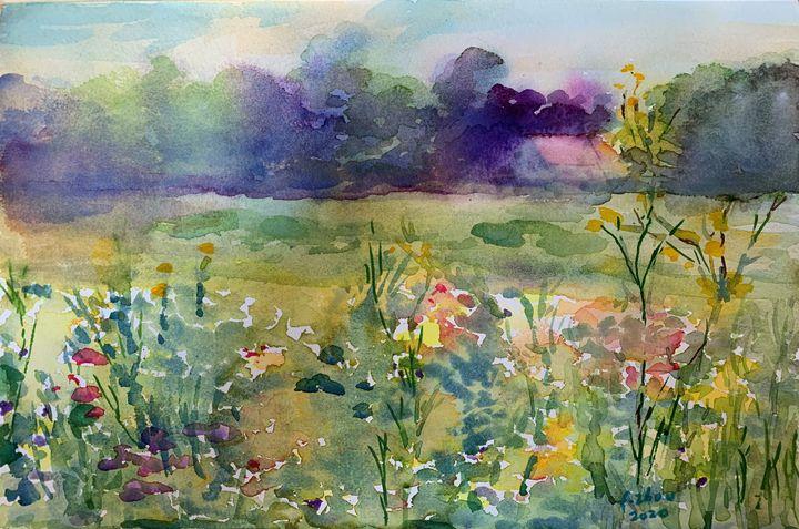 Summer Meadow - Florence Zhou 's Fine Art