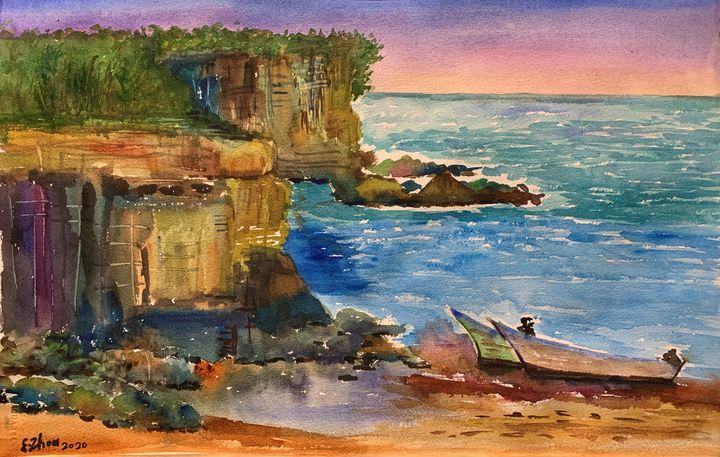 Cliffs at Watsons Bay - Florence Zhou 's Fine Art