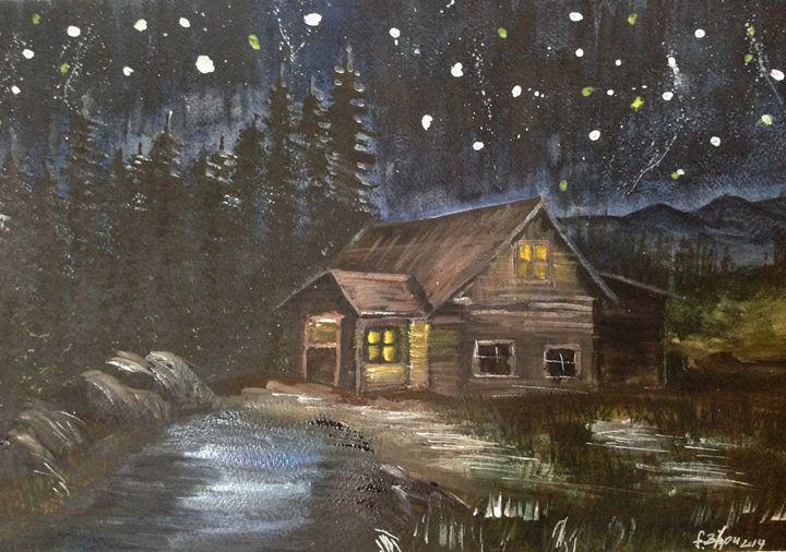Starry Night - Florence Zhou 's Fine Art