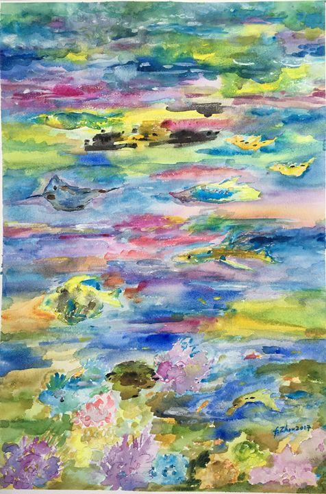 In the Deep Sea - Florence Zhou 's Fine Art