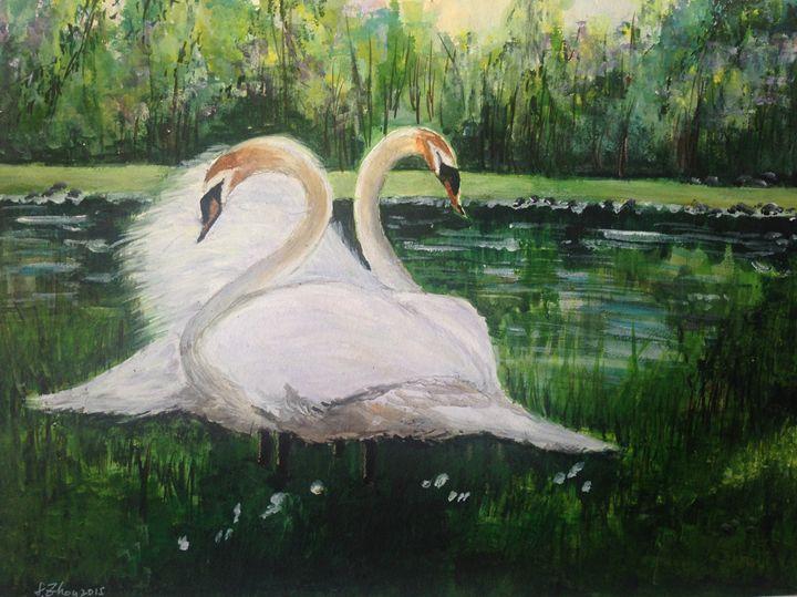 Swan Lake - Florence Zhou 's Fine Art