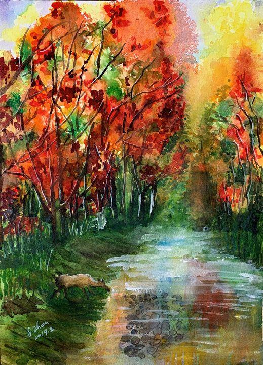 Autumn Color - Florence Zhou 's Fine Art