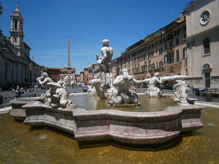 Piazza Navona - Florence Zhou 's Fine Art