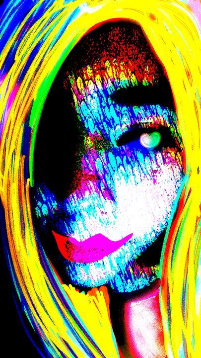 rainbow face - mewmewtrey