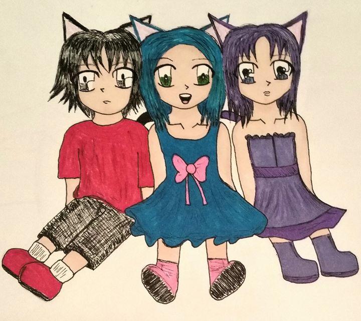3 kitten kids - mewmewtrey