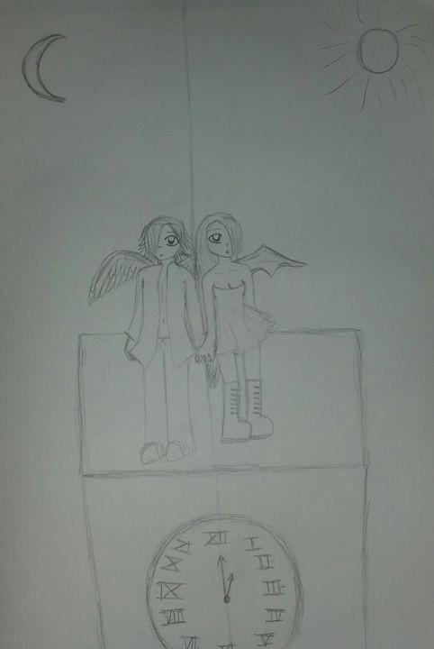 opposites on a clock tower - mewmewtrey