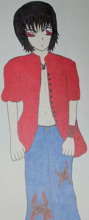 red eyes and black hair - mewmewtrey