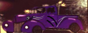 purple skull truck - mewmewtrey